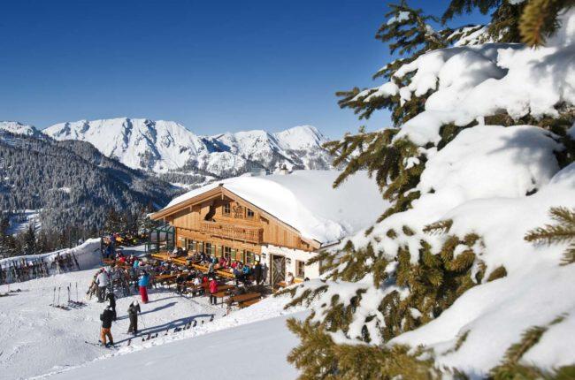 Sonnalm im Skigebiet Zauchensee
